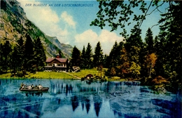 CP - Der Blausee An Der Lotsbergroute - Le Lac Blue - Route Du Loetschberg - Suisse - BE Bern
