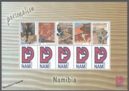 Namibia 2011 Yvert 1238-42, Fauna, Animals Of Africa - NAM Post Personalised - Sheetlet - MNH - Namibie (1990- ...)