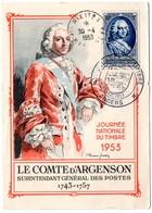 HERALDIQUE = 49 ANGERS 1953 = CARTE MAXIMUM + CACHET JOURNEE DU TIMBRE  Illustrée D' ARMOIRIES + N° Yvt 940 + RIKITEA - Maximum Cards