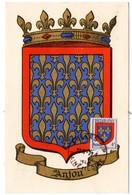HERALDIQUE = 49 ANGERS 1950 = CARTE MAXIMUM + CACHET HOROPLAN + N° 838 ARMOIRIES D' ANJOU - Maximum Cards