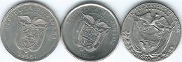 Panama -⅒ Balboa - 1970 (KM10) 1996 (KM127.1) & 2008 (KM127.2) - Panama