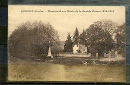 QUINGEY ( DOUBS ) - MONUMENT AUX MORTS DE LA GRANDE GUERRE 1914 - 1918. - France