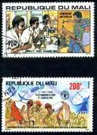 1985-86 MALI SERIE COMPLETA USATA 534+A502 - Mali (1959-...)