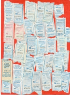 Kazakhstan 2005,12,15,18,19. City Karaganda. One Way Tickets For Bus. Lot Of 38 Tickets. - World