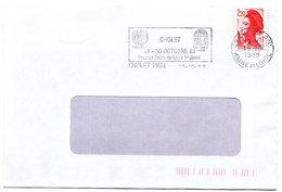HERALDIQUE = 49 CHOLET 1988 =  FLAMME Type II =  SECAP  Illustrée D' ARMOIRIES ' Premier Salon Du Livre Régional' - Marcophilie (Lettres)
