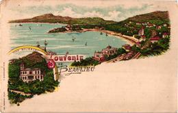 """FANTAISIE """"SOUVENIR DE BEAULIEU ,VILLA SALISBURY"""" REF 60230 - Beaulieu-sur-Mer"""