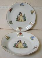 Lot. 1093. Deux Assiettes Décorée De Blanche-neige Et Les Sept Nains. Cerabel. Porcelaine De Baudour - Baudour (BEL)