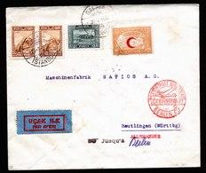 A6233) Türkei Turkey Luftpostbrief Galata 20.07.32 N. Reutlingen - 1921-... República