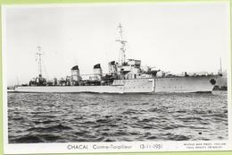 CHACAL  CONTRE TORPILLEUR  13-11-1931 / Photo Marius Bar, Toulon / Marine - Bateaux - Guerre - Militaire - Guerra