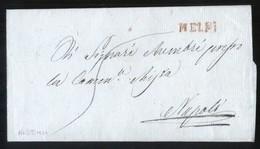 LETTERA PREFILATELICA DEL 1824  SENZA TESTO  INTERNO DA   MELFI  A NAPOLI - ...-1850 Voorfilatelie