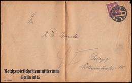 164 Ziffer Mit Perfin M&S Als EF Auf Drucksache BERLIN 22.7.1922 Nach Leipzig - Deutschland