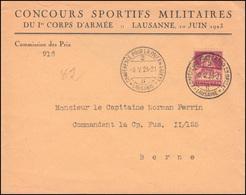 165 Tell Mit Armbrust EF Brief SSt LAUSANNE Friedenskonferenz Im Osten 6.5.1923 - Suisse