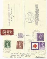 CARTE LETTRE  EXPRESS POUR L'ALLEMAGNE 1963 AVEC AFFRANCHISSEMENT COMPLEMENTAIRE - Luftpost & Aerogramme