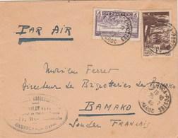 Maroc Yvert 182 + PA 38 Sur Lettre CASABLANCA 28/12/1940 à Bamako Soudan - Maroc (1891-1956)