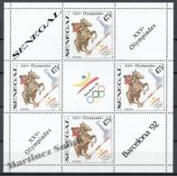 Senegal 1989 Yvert 820, Barcelona Summer Olympic Games 1992  - Equestrian - Imperforated Sheetlet - MNH - Senegal (1960-...)