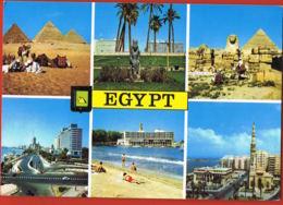 Egypt - Cpsm Multivues -voyagée Avec Beau Timbre  Scans Recto Verso -Paypal Sans Frais - Egypt