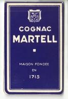 Carnet De Bar Cognac MARTELL - Publicités