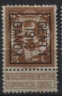 PREOS TYPO-  1912 GENT 1 GAND (position B). Cat. 34 Cote 425. - Vorfrankiert