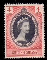 British Guiana Queen Elizabeth II 1953 Coronation Fine Used - America (Other)