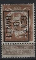PREOS TYPO-  1914 GENT 1 GAND (position B). Cat. 51 Cote 500. Bandelette Renforcée - Precancels