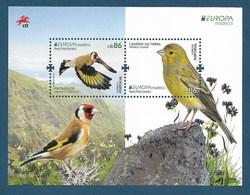 Portugal / Madeira  2019 , EUROPA CEPT Birds - Aves Nacionals - Block + Marke - Postfrisch / MNH / (**) - 2019