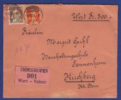 Wertbrief Von Emmishofen Mit Siegel (br7696) - Suisse