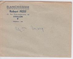 VIEUX PAPIER - LETTRE ET COURRIER -  ENTETE - BLANCHISSERIE ROBERT PETIT A AVALLON - Manuscrits