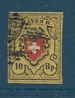 Timbre Oblitéré Suisse N° 15 Yt, RAYON II - 1843-1852 Federal & Cantonal Stamps