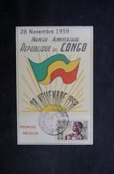 CONGO - Carte Du 1er Anniversaire De La République Du Congo En 1959 - L 33397 - FDC