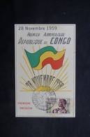 CONGO - Carte Du 1er Anniversaire De La République Du Congo En 1959 - L 33398 - FDC