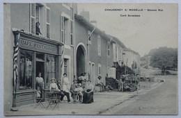 Cpa Chaudeney-sur-Moselle, (54),  Grande Rue, Café Restaurant Scherrer - Autres Communes