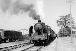 """Riscle. Locomotive 230 G 347. Train """"MV"""" Vers Port-Sainte-Marie Et Agen. Cliché Jacques Bazin. 30-07-1959 - Trains"""