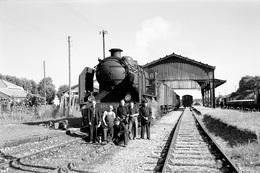 """Nérac. Locomotive 230 G 347. Train """"MV"""" Riscle - Port-Sainte-Marie - Agen. Cliché Jacques Bazin. 30-07-1959 - Trains"""