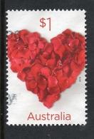 2016 AUSTRALIA RED HEART VERY FINE POSTALLY USED Sheet $1 STAMP - 2010-... Elizabeth II