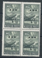 1957. The Closing Value Of The 1950. Airplane (V.) With Triple Hole Punching - Unused Stamps