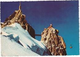 Chamonix-Mont Blanc - Arrivée De La Benne De Téléphérique De L'Aguille Du Midi - Chamonix-Mont-Blanc