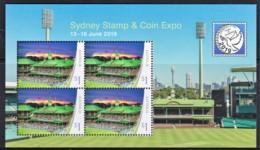 Australia 2019 Sydney Stamp & Coin Expo Sydney Cricket Ground Minisheet MNH - Mint Stamps