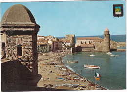 Collioure - Vue Sur Le Port Et L'église Saint-Vincent, Depuis Le Chateau Des Templiers - Collioure