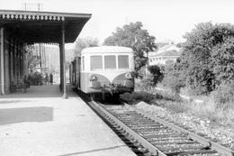 Cabenet. Autorail 150 Chevaux X 5500. Ligne Cahors - Capdenac. Cliché Jacques Bazin. 05-09-1973 - Trains