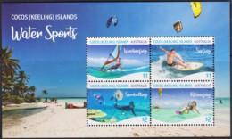 Cocos Islands 2019 Water Sports Minisheet MNH - Cocos (Keeling) Islands