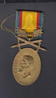 Romania Medal Carol I Barbatie Si Credinta - Royal / Of Nobility