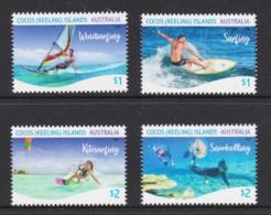 Cocos Islands 2019 Water Sports Set Of 4 MNH - Cocos (Keeling) Islands