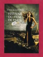 CPM. Carte à Pub.  Cinéma.  Festival Du Film De Paris 2001. - Cinema