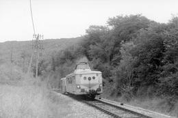Près De Vers. Autorail X 5800. Ligne Cahors - Capdenac. Cliché Jacques Bazin. 28-08-1973 - Trains