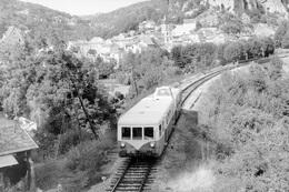 Vers. Autorail X 5800. Ligne Cahors - Capdenac. Cliché Jacques Bazin. 29-08-1973 - Trains