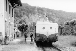 Vers. Autorail X 5800. Ligne Cahors - Capdenac. Cliché Jacques Bazin. 11-06-1971 - Trains