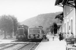 Cajarc. Autorail X 5800 à Caisse En Acier Inoxydable. Ligne Cahors - Capdenac. Cliché Jacques Bazin. 06-09-1973 - Trains