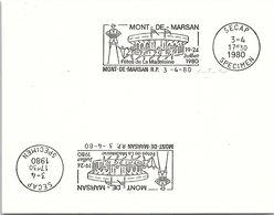 SPECIMEN  SECAP - MONT-DE-MARSAN FÊTES DE LA MADELEINE 19-24/7/1980 - 3.4.80  / 1 - Mechanische Stempels (reclame)