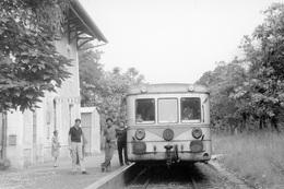 Toirac. Autorail X 5800 à Caisse En Acier Inoxydable. Ligne Cahors - Capdenac. Cliché Jacques Bazin. 06-09-1973 - Trains