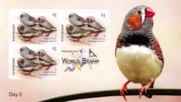 Australia 2018 Thailand Show Day 5 Zebra Finch Bird Minisheet MNH - Mint Stamps